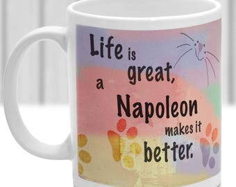 Napoleon cat mug, Napoleon cat gift, ideal present for cat lover