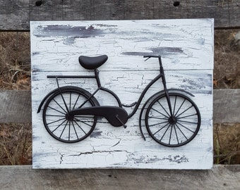 Bicycle Wall Art metal bicycle art | etsy