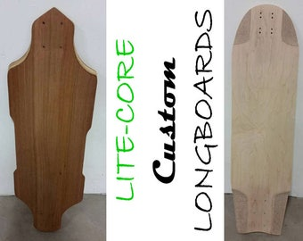 Custom Eco-Composite Longboard Deck: 50% Lighter, All Natural!