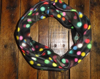 Christmas Infinity Scarf // Holiday // Gifts for Her // Fleece // Lights // Red // White // Green // See Listing for Restrictions