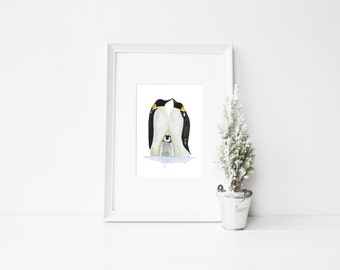Penguin Watercolour Print