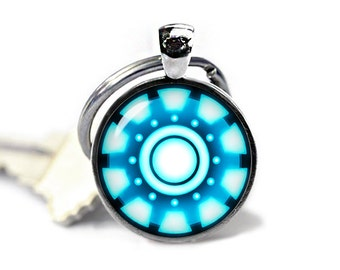 Arc Reactor Keychain Arc Reactor Keyfob Iron Man Keychain Superheroes Fandom Jewelry
