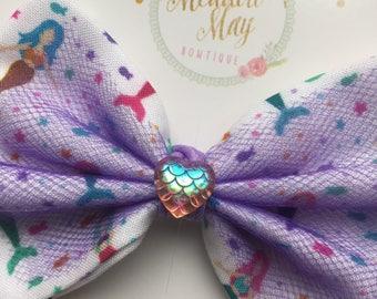 Minka's Mermaids Hair Bow, Mermaid bow, Mermaid headband, Mermaid