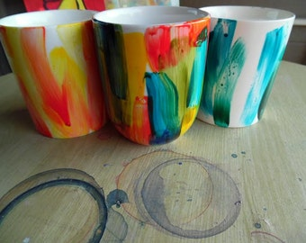 Custom Brushstroke Coffee Mugs