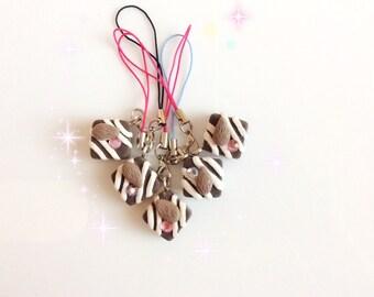 Chocolate sweet charm, strap, keyring