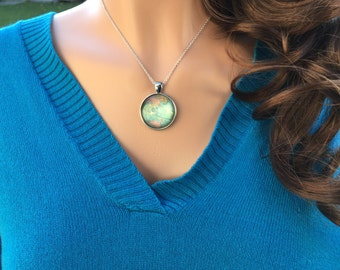 Map of the World Globe Sterling Silver Necklace, Earth Necklace, Atlas Necklace, Journey Necklace, World Traveler Necklace, Wanderlust Gift
