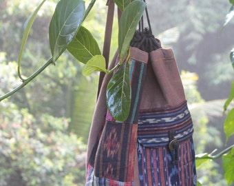 Handmade bag backpack from Indonesian Ikat