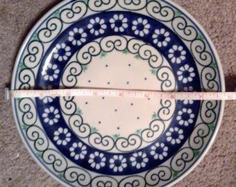 Polish Pottery Bread Plate