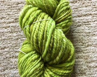 Avacado Hand-spun Hand-dyed Yarn