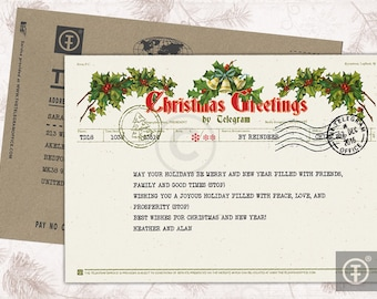 Christmas Telegram / Christmas Greetings