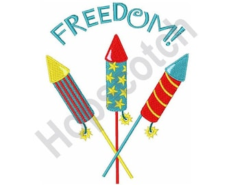 Fireworks &Freedom - Machine Embroidery Design