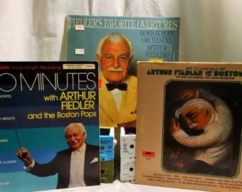 Arthur Fiedler 1970's (lot of 3 LP, Album, Vinyl Record ) Boston Pops, Classical, Orchestra Music