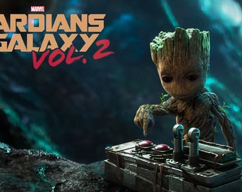 Guardians of the Galaxy Vol. 2 baby Groot NEW movie poster 300gsm 13x19