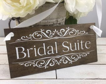 Bridal Suite Sign-Wood Bridal Suite Sign-Rustic Chic Wood Wedding Sign