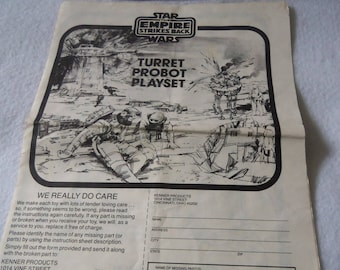 Star Wars Turret Probot Playset Instruction Booklet