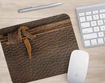 Mousepad Leather Office Supplies Mens Gift Desk Accessories Faux Printed  Fabric Flexible Mousemat Coworkers Mousepads Chic