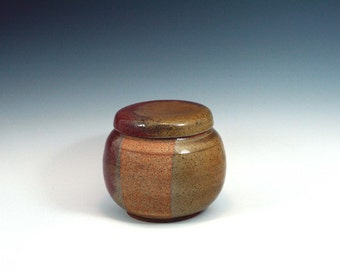 5 1/2 inch tall Lidded Stoneware Container