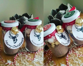 Personalised Hot Chocolate jars. Christmas, Weddings, Special Occasions, etc