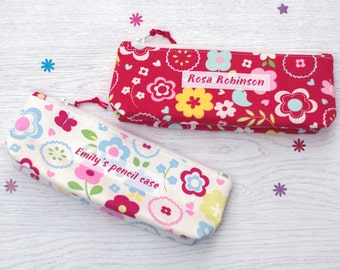 Personalised Pencil Case -  gift for her - gift for teacher - birthday present - back to school - children's gift - personalize