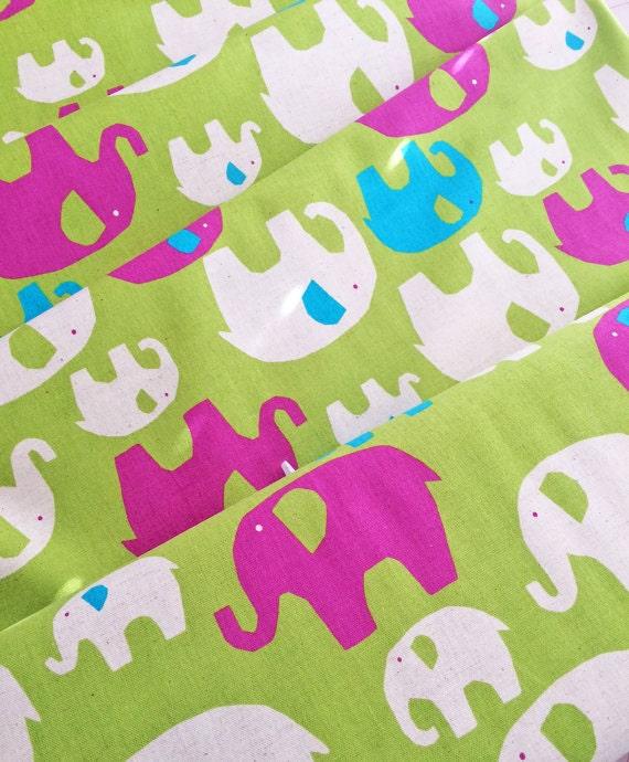 Elephant fabric circus elephants blue canvas kids for Childrens elephant fabric