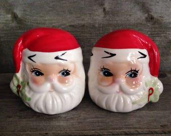Vintage Santa Claus Salt and Pepper Shakers | Christmas Decor