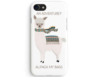 An alpaca adventure - iPhone X case, iPhone 8 case, iPhone 8 Plus, iPhone 7 case, Samsung Galaxy Note 8 case 1C078
