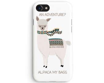 An alpaca adventure - iPhone 7 case, Samsung Galaxy S7 case, iPhone 6, iPhone 7 plus, iPhone SE, iPhone 5S, 1C078A