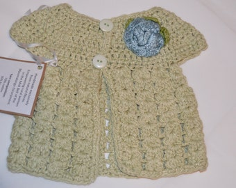 6 - 12 Months Girls' Light Green Cardigan