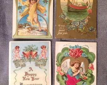 Vintage Holiday Post Cards - Lot of 4