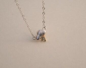 lightning bolt  necklace silver necklace everyday necklace bridesmaid necklace Christmas necklace