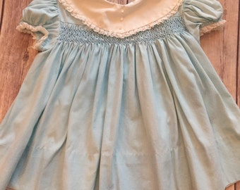 Vintage Baby Smocking Dress, size 18 months