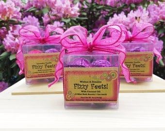 Fizzy Feets! Scented Miniature Bath Bombs For Pampering Your Feet ~ box of 4