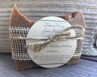 Natural Honey Goats Milk Soap
