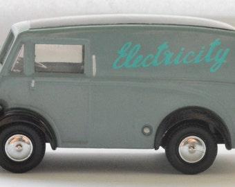 "Corgi Morris J type van in ""Electricity"" livery 1950s"