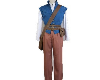 Tangled Rapunzel Prince Flynn Rider Cosplay Costumes