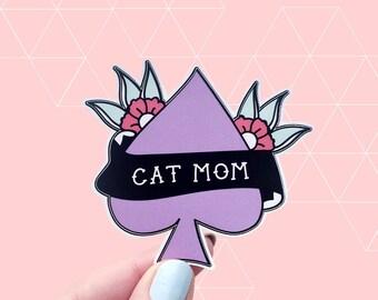 Cat Mom Vinyl Sticker