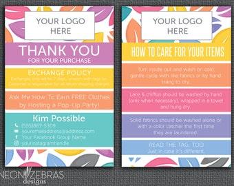 LLR  Thank You Card | Care Card | Leaf Design | 4x6 Postcard
