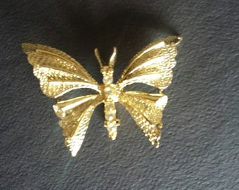 Signed Vintage Gold Butterfly Brooch,Vintage Gold Butterfly Pin,Butterfly Jewelry,Gold Butterfly,Gerry's Brooch
