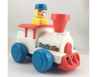 Tomy Push n' Go Train Toddler Toy, Push and Go Toy, Push and Go Train, Toy Train, Toddler Train, Tomy Toys, 1970s, Tomy Train, Push Train