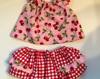 Cherries Jubilee Baby Girl Summer Outfit