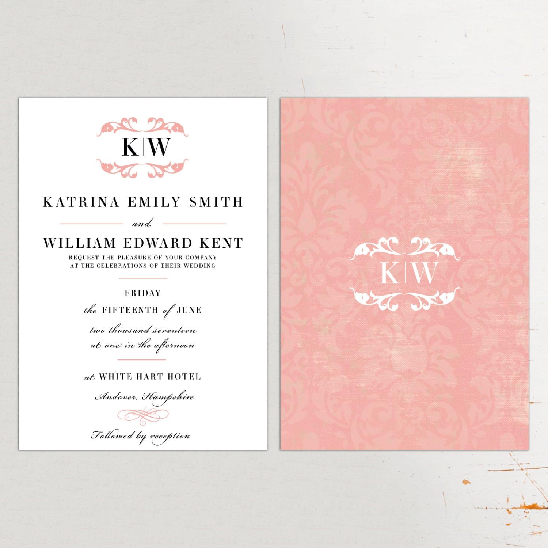 Classic Wedding Invitation and RSVP blush wedding invitations – Classic Wedding Invitations Uk