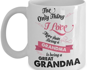 Proud Great Grandma Mug - Cute New Great Grandma Gift