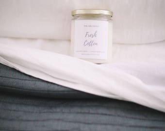 Fresh Cotton Soy Candle Handmade Candle - by The Archives Candles