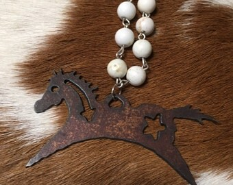Running Horse Necklace