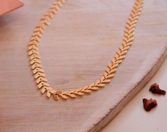 Fish Tail Gold Choker - Gifts for her