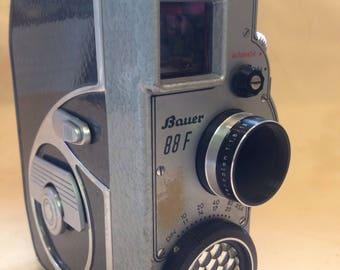 Vintage Bauer 88f mechanical cine camera with case
