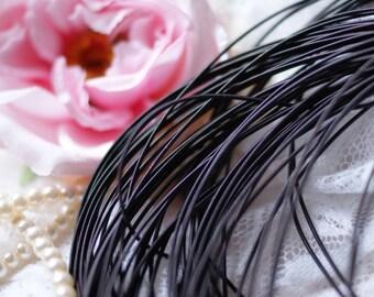 Black Circular Purl-Pearl Purl- Metalic Wire-Black Wire- Cirkular wire-