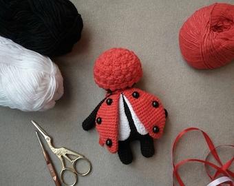Crochet Sleepy Ladybird Doll Amigurumi Suffed Toy