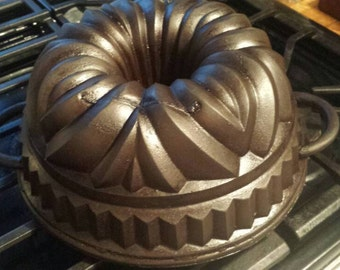 German Bundt pan, Monarch, Cast iron