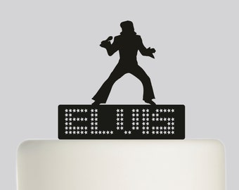 Birthday Cake Topper - Elvis Presley- Acrylic Cake Topper - Happy Birthday. 307